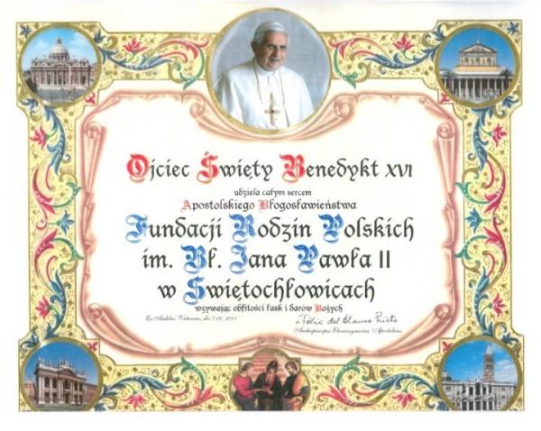 błogosłwieństwo papieskie
